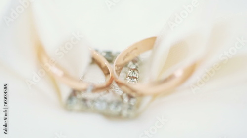 Macro wedding rings