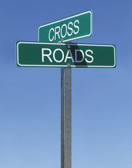 Cross Roads Sign