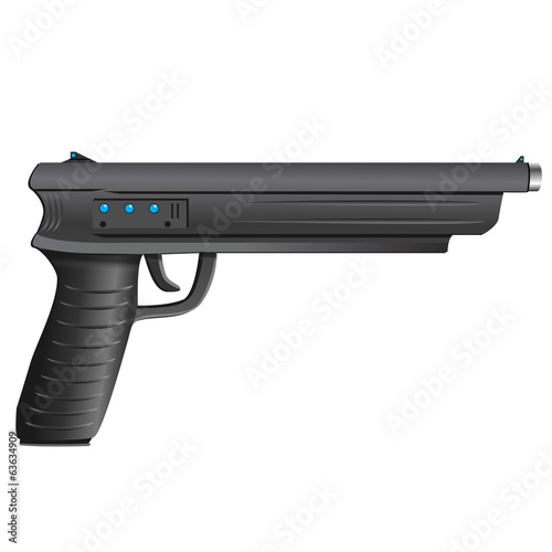 pistol, vector illustration