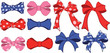 Set of bows cartoon