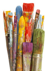 Messy Paint Brushes