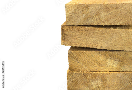 Pack of wooden planks