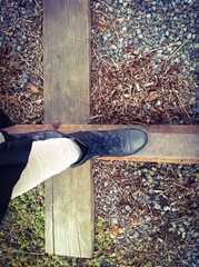 Caminando por la vía