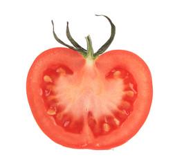 Cut half tomato.