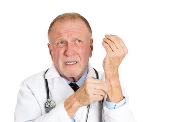 Is this real? Senior doctor pinches his skin reality check