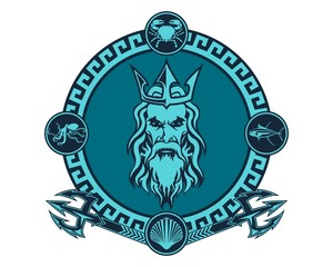 Poseidon Vector Illustrations