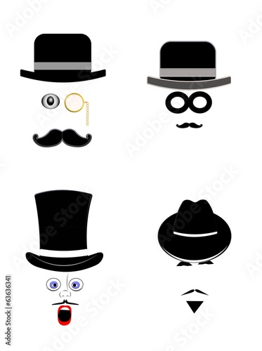 old men with hats and expressions