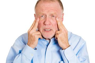 Worried depressed, sad old man