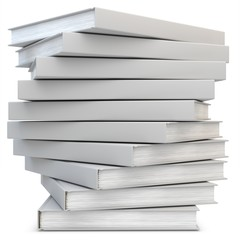 3d blank books in a stack