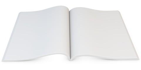 3d blank open magazine