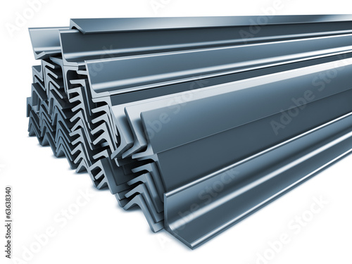 Rolled Metal Products Isolated on White.