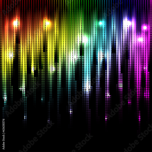Vector abstract glowing rainbow background. Eps10
