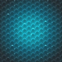 Vector glass small hexagon background. Eps10