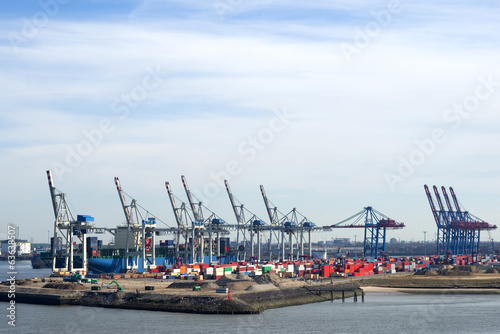 canvas print picture Hafen in Hamburg