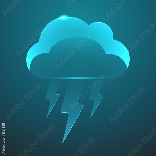 Vector glass flash icon. Eps10