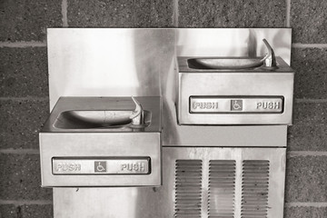 Silver Handicap Drinking Fountains