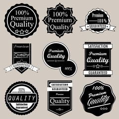 Collection of Premium Quality and Guarantee Labels design