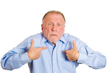 Me? Shocked, surprised old man in denial.