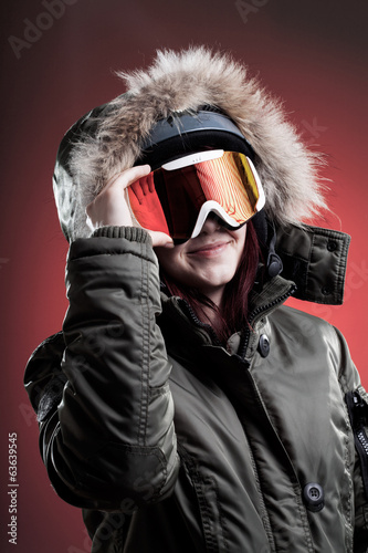 Wintersport woman