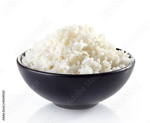 Foto op Plexiglas Groenten bowl of boiled rice