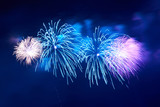 Fototapety Blue colorful fireworks