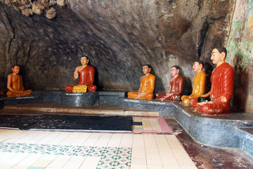 Statues in cave