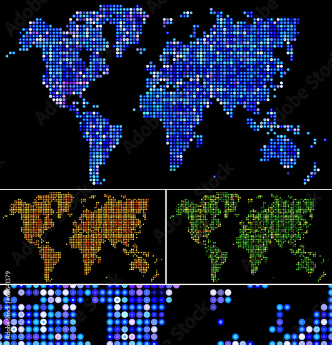 Shiny dots & dotted world map