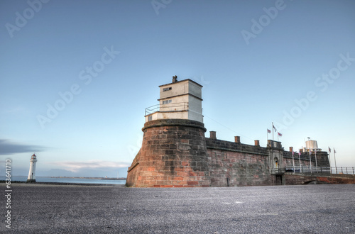 Fort Perch Rock and the Lighthouse at New Brighton, UK