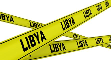 Ливия (Libya). Желтая оградительная лента