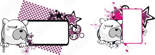 polar bear ball cartoon copyspace5