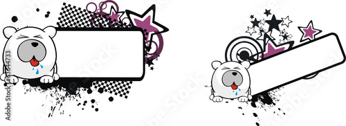 polar bear ball cartoon copyspace4