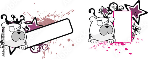 polar bear ball cartoon copyspace2