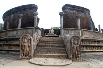 Moon stone and Buddha