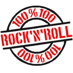 100 % Rock'N'Roll Stempel Logo