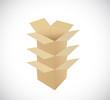pile of boxes. illustration design