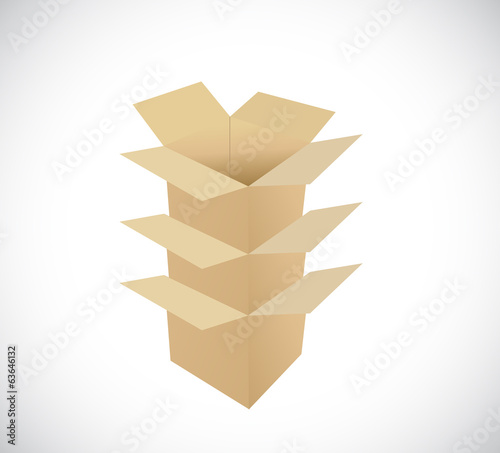 pile of boxes. illustration design