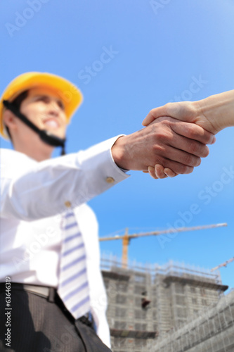 architect shaking hands