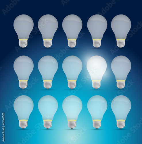 set of light bulbs and one bright idea.