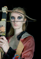 Young girl with a crossbow
