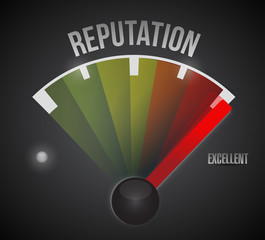 excellent reputation speedometer illustration