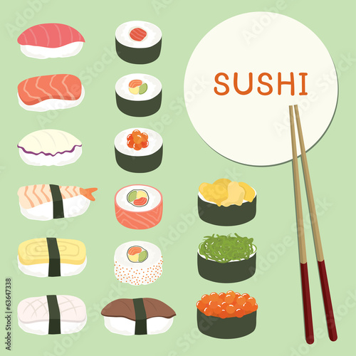 Delicious Sushi Set ,food icons ,Japanese food