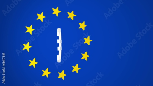 European Union Euro Symbol and Stars