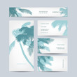 Set of business cards design, palm tree