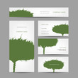 Business cards collection, green tree design
