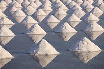 sea salt in a pan