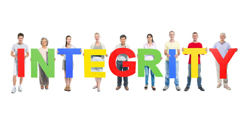 Diverse People Holding Integrity