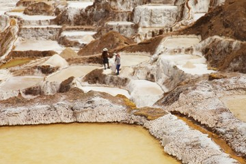 Salt ponds, working people , Maras, Peru, South america