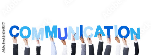 Business People Holding the Word Communication