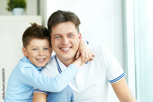 Boy with father