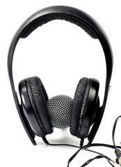 Headphones and microphone of voice